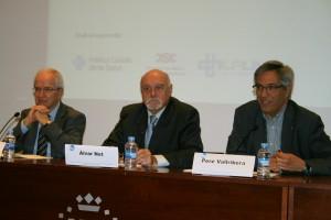 La taula inaugural amb Jordi Varela, Àlvar Net i Pere Vallribera
